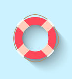 Life buoy in flat style. This is file of EPS10 format Royalty Free Stock Photos