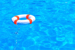 Life buoy floating Royalty Free Stock Images