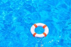 Life buoy floating Stock Image