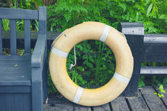 Life buoy in forest Royalty Free Stock Images