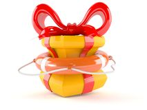 Life buoy with gift Stock Images