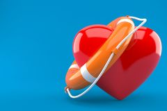 Life buoy with heart Royalty Free Stock Images