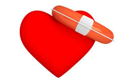 Life Buoy for the heart Stock Image