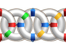 Life buoy horizontal pattern Royalty Free Stock Photo