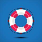 Life buoy icon. Vector illustration Stock Photo