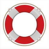 life buoy isolated on white Royalty Free Stock Photo