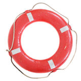 Life buoy isolated. On white background Royalty Free Stock Photo