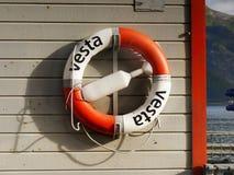 Life Buoy Lifeboat Ship Board Stock Photo