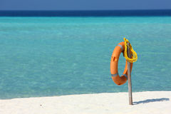 Life buoy,Maldives Royalty Free Stock Photo
