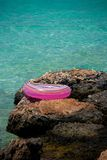 Life buoy near sea Stock Images