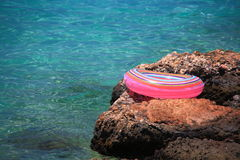 Life buoy near sea Stock Photography