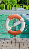Life buoy near the swimming pool Royalty Free Stock Images