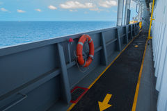 Life Buoy on offshore rig Royalty Free Stock Photo