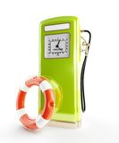 Life buoy old gasoline filling. 3d Illustrations on a white background Royalty Free Stock Image