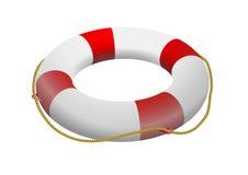 Life buoy. Red-white life buoy vector illustration Royalty Free Stock Photos