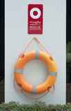 Life buoy, rescue equipment. Stock Photo