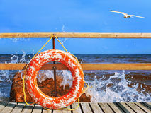 Life-buoy ring Stock Images