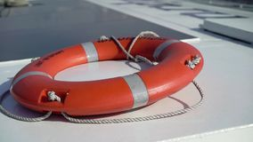 Life buoy ring. Life buoy orange ring at the ship stock video footage