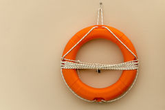 Life buoy with rope Stock Photos