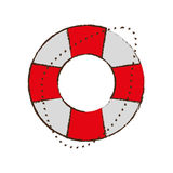 life buoy safety travel color sketch Stock Photo