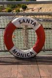 Life buoy of Santa Monica Royalty Free Stock Image