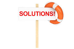 Life Buoy with solutions sign Stock Images