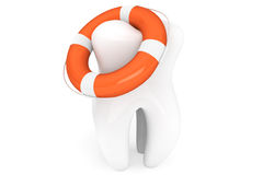 Life Buoy and tooth Royalty Free Stock Photography