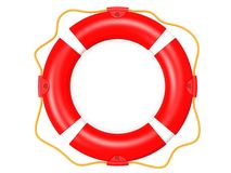 Life buoy topview red Royalty Free Stock Photography