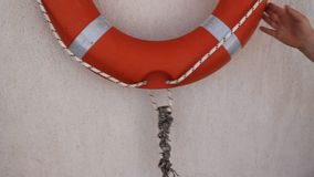 Life buoy stock footage