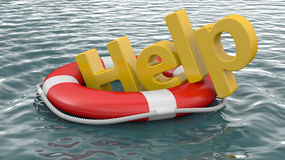 Life buoy on water Stock Images
