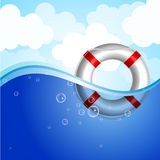 Life Buoy in water Royalty Free Stock Images