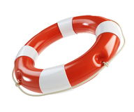 Life Buoy on a white background Stock Photos
