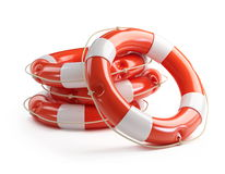 Life Buoy on a white background Stock Image