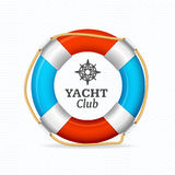 Life Buoy Yacht Club Corporate Sign Concept. Vector Stock Photography