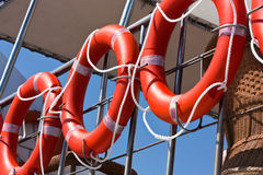 Life buoys Stock Photography