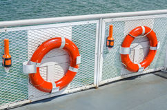 Life Buoys and Beacons Royalty Free Stock Photos