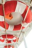 Life buoys on boat Stock Photo