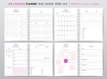 Life and business planner 2018 Stock Photography