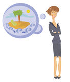 From a life of the business woman royalty free illustration