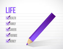 Life check mark list illustration design Stock Photo