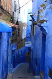Life in Chefchaouen Medina, Morocco. This picture is taken in Morocco. Chefchaouen Arabic: شفشاون Shafshāwan pronounced IPA royalty free stock photography