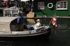 LIFE AT CHISTIANSHAVN CANAL Stock Images