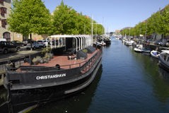 LIFE AT CHISTIANSHAVN CANAL Royalty Free Stock Photo