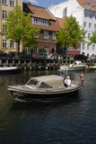 LIFE AT CHISTIANSHAVN CANAL Royalty Free Stock Images