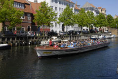 LIFE AT CHISTIANSHAVN CANAL Stock Photo