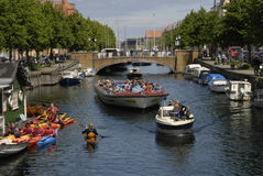 LIFE AT CHRISTIANSHAVN CANAL Stock Image