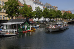 LIFE AT CHRISTIANSHAVN CANAL Royalty Free Stock Image