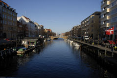 LIFE AT CHRISTIANSHAVN CANAL Royalty Free Stock Photos
