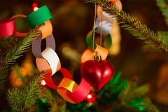 Life christmas tree with ornaments Stock Image