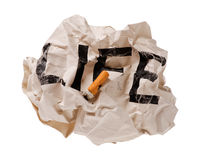 Life and Cigarettes Stock Photo